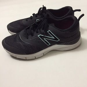 New balance 713 sneakers black turquoise size 9